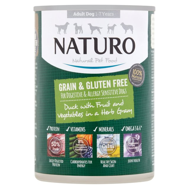 Naturo Adult Dog Grain & Gluten Free Duck With Blueberries