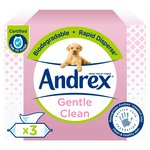 Andrex Gentle Clean Washlets Three Pack