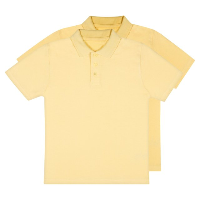 Nutmeg Boys 2 Pack Yellow Polos