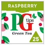 PG Tips Smooth Green Tea Raspberry Flavour 25 Pyramid Bags