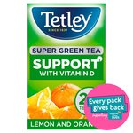 Tetley Green Tea Vitamin D Sunshine 20 Tea Bags