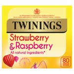 Twinnings Strawberry & Raspberry 80 Single Tea Bags