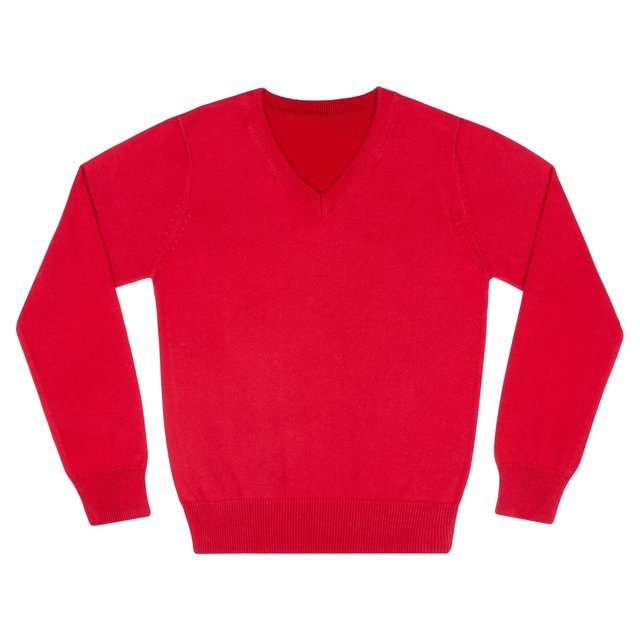 Nutmeg Boys Red V Neck Jumper
