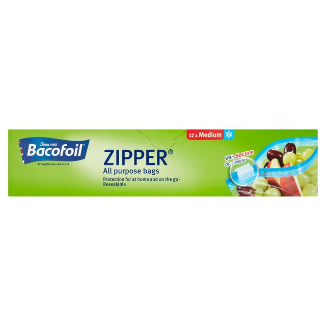 53de84de54ba Morrisons: Bacofoil All Purpose Medium Zipper Bags 12 per pack ...