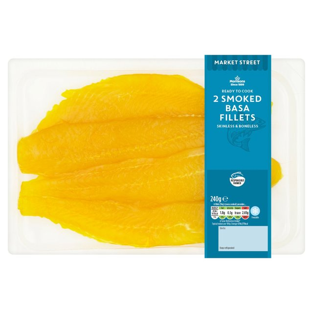 Morrisons Market St Smoked Basa Fillets