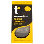 We Are Tea English Breakfast Black Tea 15 Tea Bags