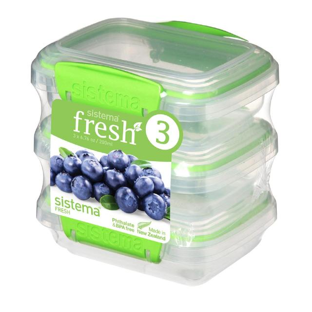 Sistema Fresh Food Container 200ml Green Morrisons