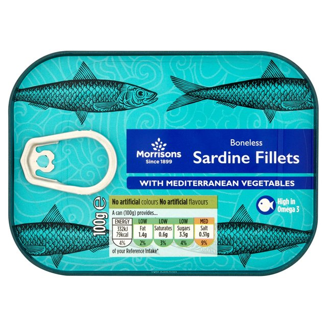 Morrisons Boneless Sardine Fillets with Mediterranean Vegetables