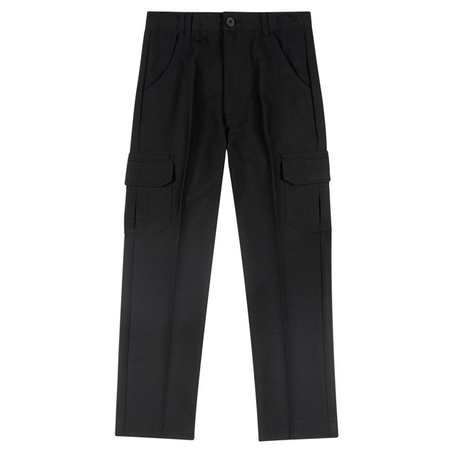 Nutmeg Black Cargo Trousers