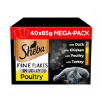 Sheba Fine Flakes Poultry Collection In Jelly