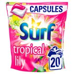 Surf Tropical Lily and Ylang-Ylang Washing Capsules 20 Wash