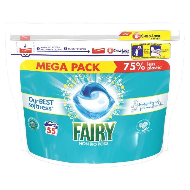 Morrisons Fairy Non Bio Pods Washing Liquid Capsules 55