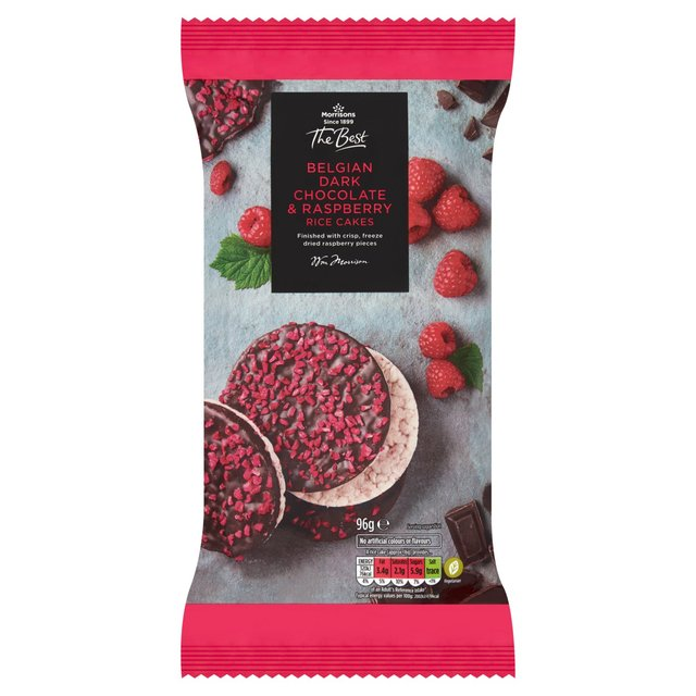 Morrisons The Best Dark Chocolate Raspberry Rice Cakes