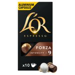 L'Or Espresso Forza 10 Aluminium Coffee Capsules Intensity 9
