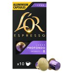 L'Or Espresso Lungo Profondo Aluminium Coffee x10 Capsules Intensity 8