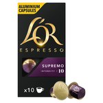 L'Or Espresso Supremo 10 Aluminium Coffee Capsules intensity 10
