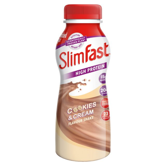 Slimfast High Protein Cookies & Cream Flavor Shake