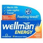 Wellman Energy Natural Orange Flavor Effervescent Tablets