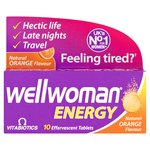 Wellwoman Energy Natural Orange Flavor Effervescent Tablets