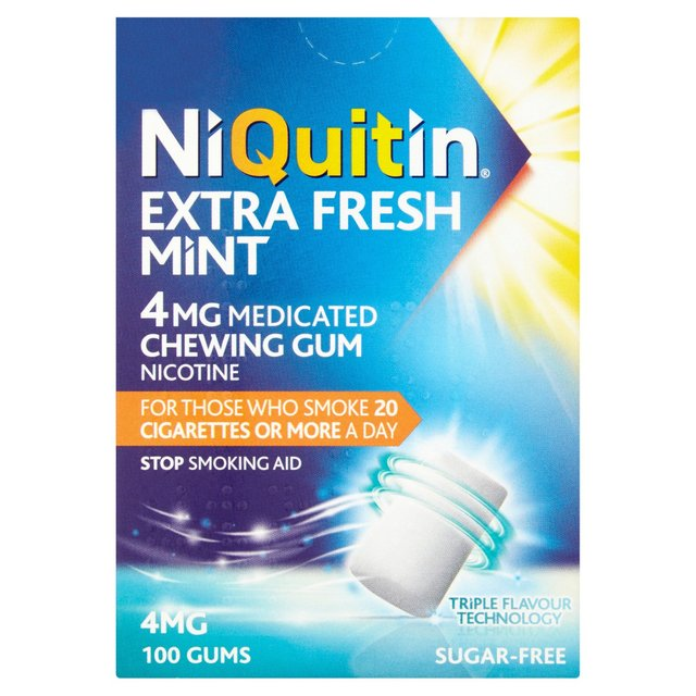 Niquitin Extra Fresh Mint 4mg Medicated Gum