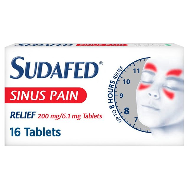 Sudafed Sinus Pain Relief Tablets