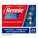 Rennie Heartburn Indigestion & Wind Relief Sugar Free Mint Flavor