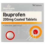 Morrisons Ibuprofen Coated Tablets 200Mg