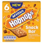 Mc Vities Hobnobs Snack Bar Milk Chocolate & Salted Caramel Oaty Bars 6pk