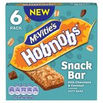 Mc Vities Hobnobs Snack Bar Milk Chocolate & Sweet Coconut Oaty Bar 6pk