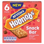 Mc Vities Hobnobs Snack Bar Miilk Chocolate & Punchy Ginger Oaty Bar 6pk