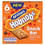 Mc Vities Hobnobs Snack Bar Milk Chocolate & Golden Syrup Oaty Bar 6pk