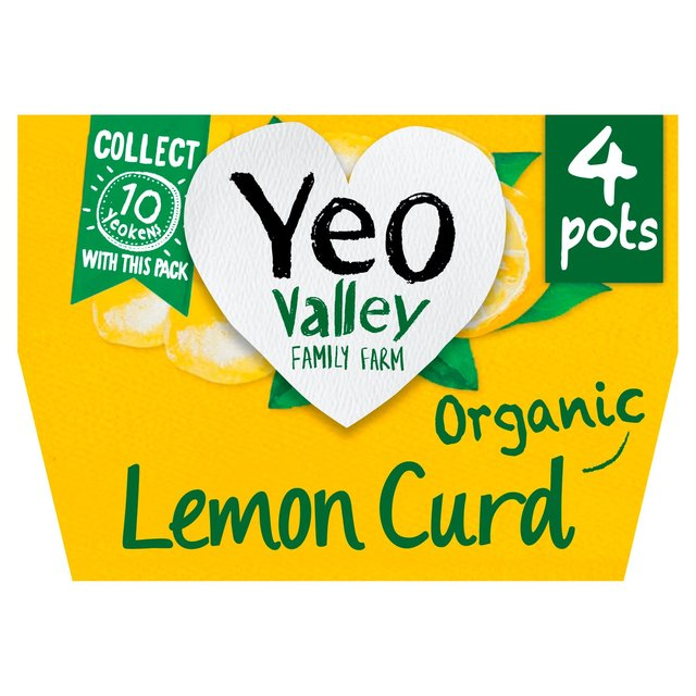 Yeo Valley Natural Lemon Curd 4 Heavenly Pots