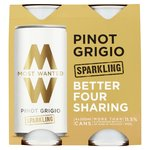 Most Wanted Pinot Grigio Sparkling 4pk