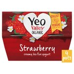 Yeo Valley Strawberry Yogurt 4 pack