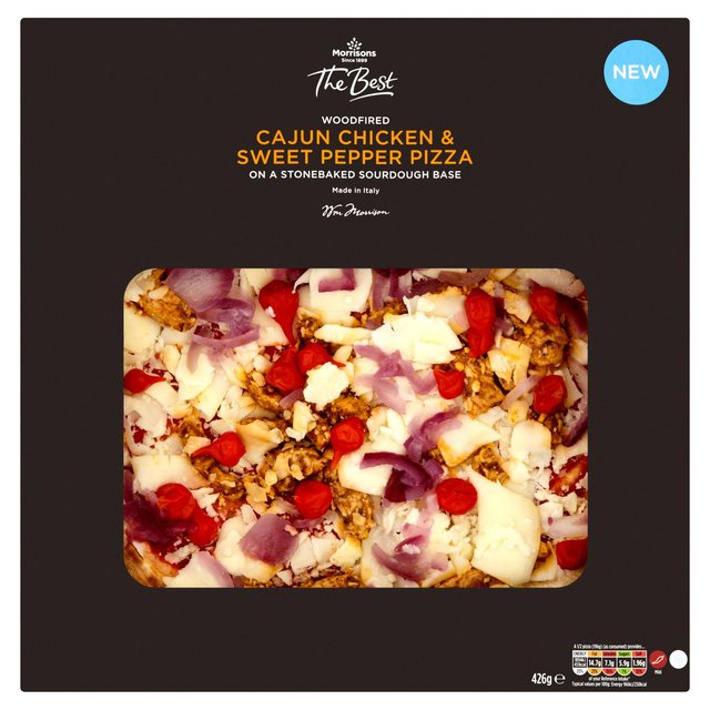 Morrisons The Best Cajun Chicken & Sweet Red Peppers Pizza