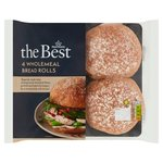 Morrisons The Best Wholemeal Rolls