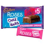 Cadbury Roses Strawberry Cake Bars