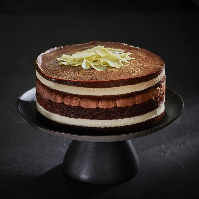 Morrisons The Best Hand Finished Triple Belgian Chocolate Gateau