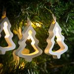 Morrisons 10 LED White Tree Shaped Lights