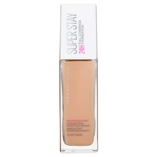 Maybelline Superstay 24H Full Coverage Foundation 28 Soft Beige 30ML