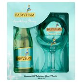 Babycham Sparkling Perry 20Cl,  Glass & Bauble