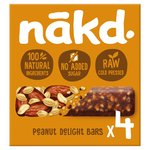 Nakd Peanut Delight 4 Raw Fruit & Peanut Bars 4x35g