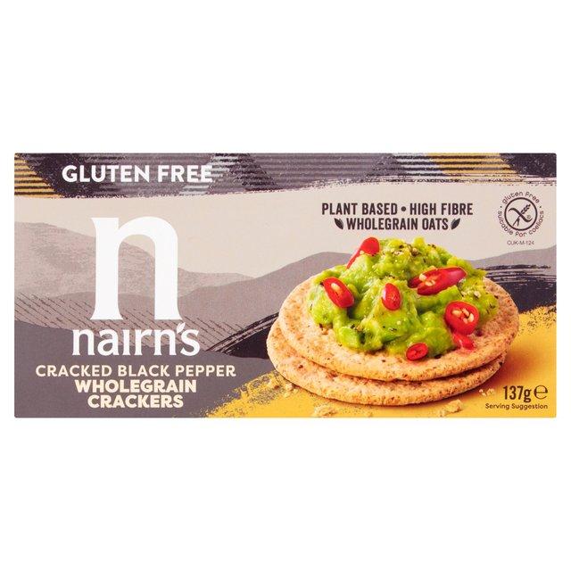 Nairn's Gluten Free Cracked Black Pepper Crackers