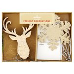 Morrisons Gold Present Decoration Set