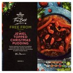 Morrissons The Best Free From Jewelled Topped Xmas Pudding