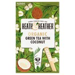 Heath & Heather Organic Green Tea with Coconut 20s