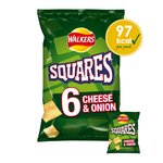 Walkers Squares Cheese & Onion Snacks 6x22g