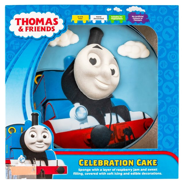 Marvelous Thomas The Tank Engine Celebration Cake Morrisons Funny Birthday Cards Online Overcheapnameinfo