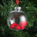 Morrisons Red Pom Pom Baubles