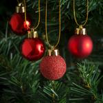 Morrisons Red Mini Baubles